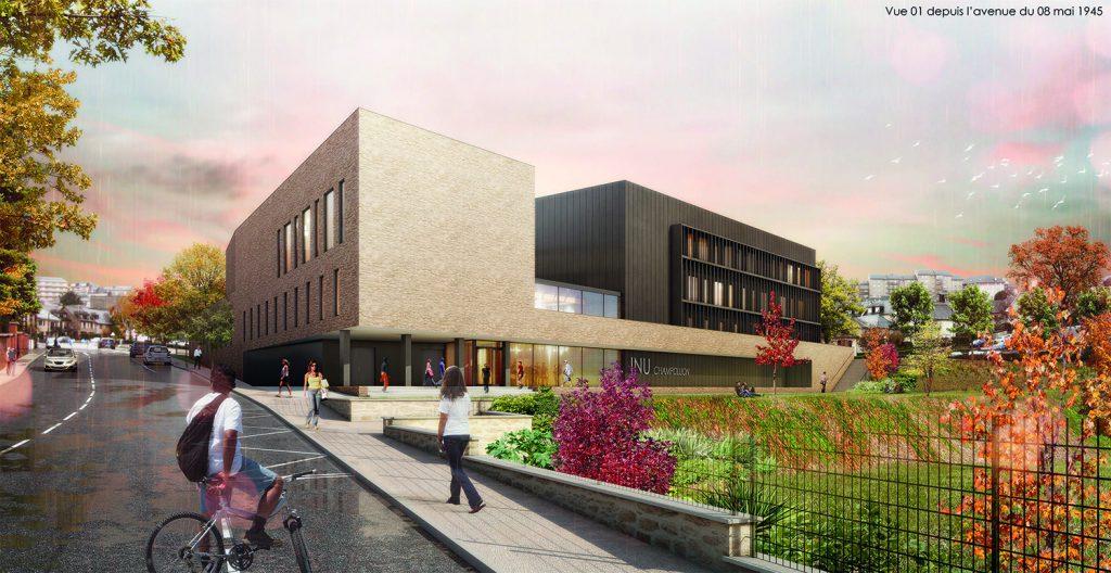Vue du futur campus universitaire