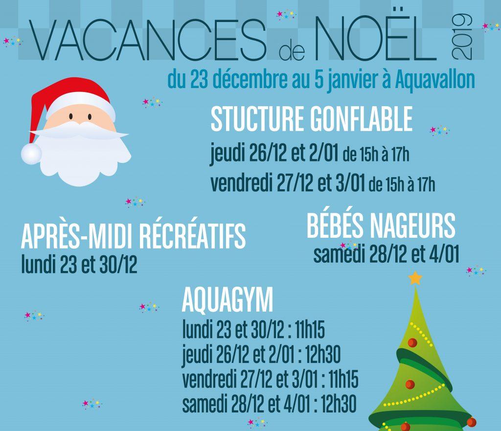 L'affiche des animations de Noël à Aquavallon