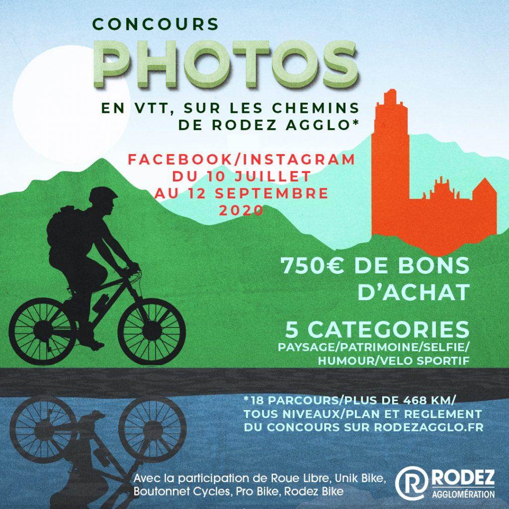 Jeu concours photos, en VTT sur les chemins de Rodez Agglo