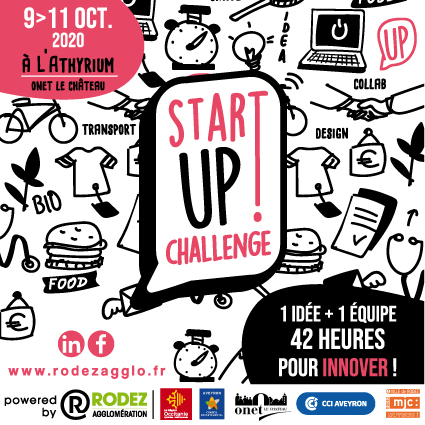 Le visuel du Startup Challenge 2020