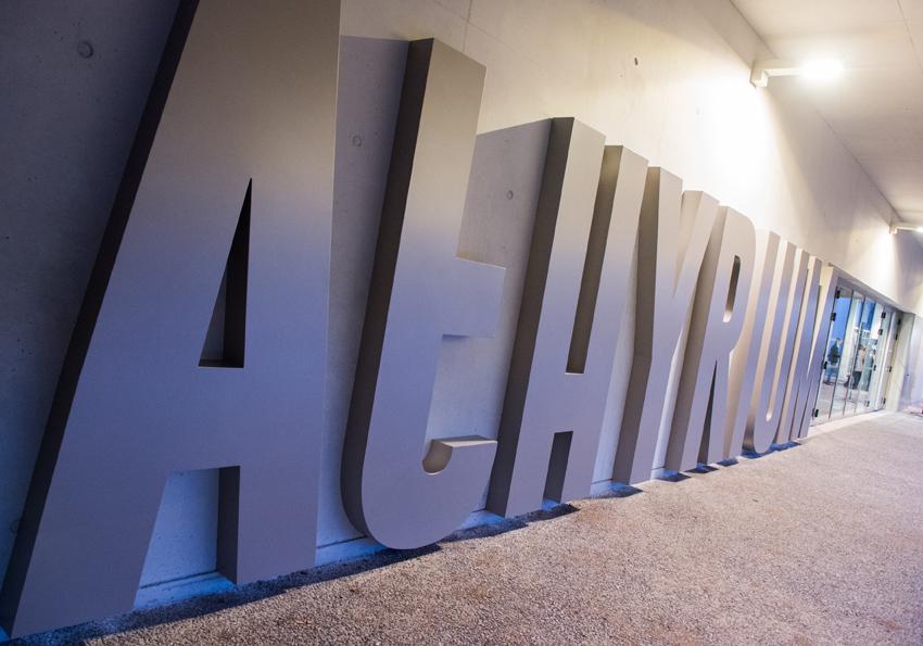 Vue du nom de l'Athyrium sur le bâtiment