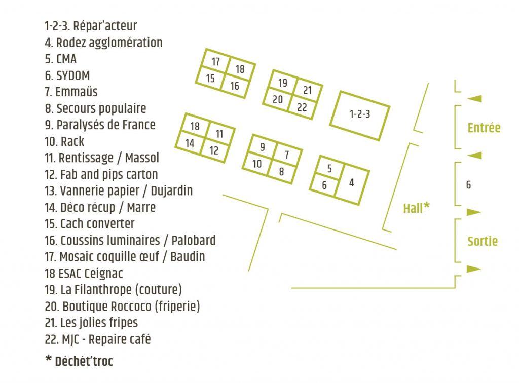 Plan du salon du réemploi