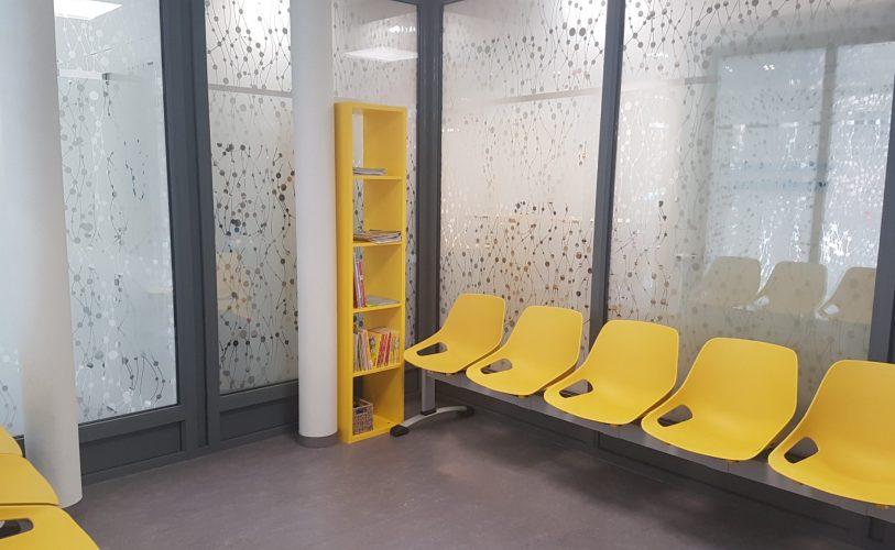 Salle d'attente maison de santé du Faubourg