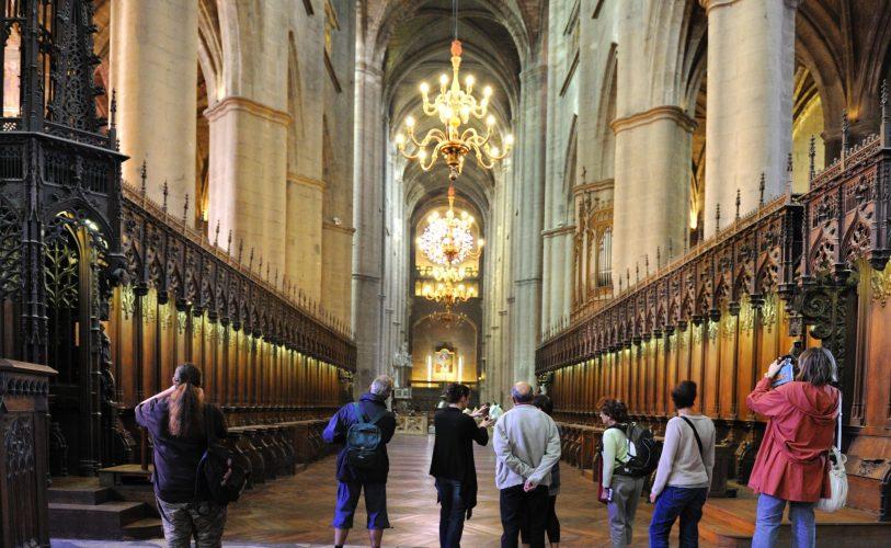 La nef de la cathédrale Notre-Dame à Rodez