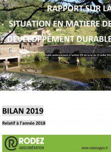 Couverture du rapport développement durable 2019