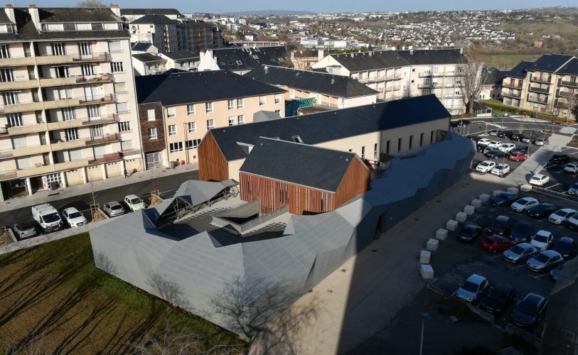 Vue de la maison de santé du Faubourg depuis l'église du Sacré Coeur