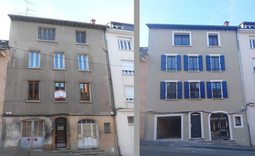 Rénovation d'un immeuble à Rodez